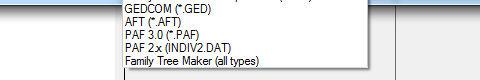 GEDCOM Dateiformate mini